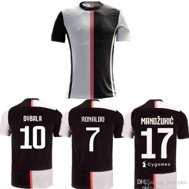 size 40 a9130 6f7f2 Thailand RONALDO Juventus 2019 champions league soccer jerseys DYBALA 19 20  JUVE maillot de football jerseys camisa de futebol