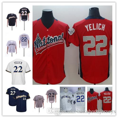 03c304068 2019 Men Women Kids Milwaukee 22 Christian Yelich Youth Womens Jersey Color  White Blue Red Grey All Star 100% Stitched Jerseys From Bestsportsjerseys,  ...