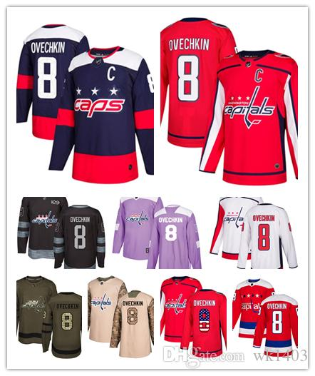 100% authentic 5b4d2 ad5c5 Washington Capital jerseys #8 Alex Ovechkin Jersey hockey men women youth  white red Alternate Premier blue Stadium Stiched Jerseys