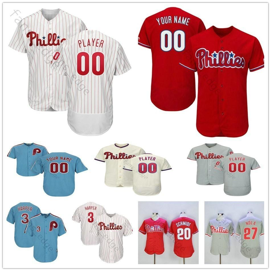9c1420d87 2019 Custom Mens Stitched  27 Aaron Nola 22 McCutchen 3 Bryce Harper 41  Carlos Santana Men Women Kids Youth Baseball Jerseys From New jersey store