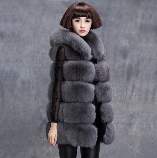 4430638020e48 2019 New 2019 Winter Women S Faux Fur Coat Artificial Fur Vest Furry Vests  Femme Jackets Plus Size Fluffy Fake Gilet Z347 From Pinafore