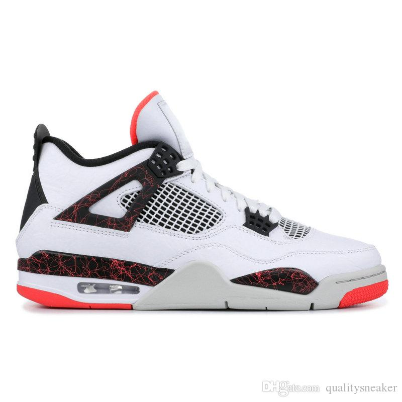 afcaa48f1e5c32 2019 4 Pale Citron Hot Lava Punch Men Basketball Shoes 4s Raptors Travis  Scott Cactus Jack Black Gum Cat Bred Tattoo Designer Sneakers Trainer From  ...