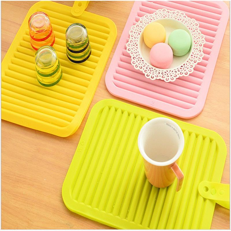 Multi Colors Table Mats Kitchen Accessories Silicone Heat Insulation Pads Large Size Anti Slip Mat Eco Friendly 6 1hj L1
