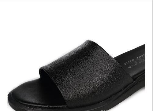 064cee5680 Women Sandals Slippers 2019 freeshipping hot newest HOT NEW Super  Comfortable Fashion Women Genuine Leather Slippers Black Non-slip Shoes