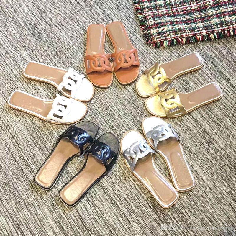 0d01ebc450215 Größe 35-41 Damen Designer Sandalen Schwein Nase Leder mit Mix Farben  Staubbeutel Designer Schuhe Luxus Slide Sommer breite flache Sandalen
