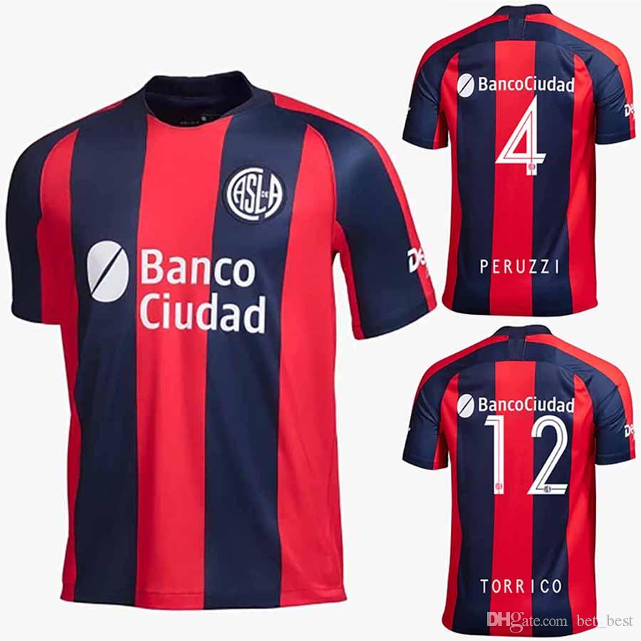 289747f1a95 2019 2020 Camiseta San Lorenzo Home Soccer Jersey Red 19 20 ...