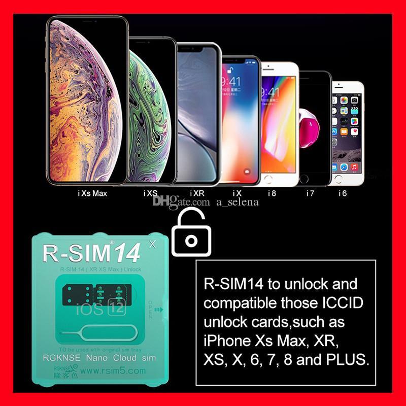 R-SIM 14 R sim14 RSIM14 R SIM 14 RSIM 14 unlock card iphone xs max IOS12 X  iccid unlocking sim R-SIM14 by epacket
