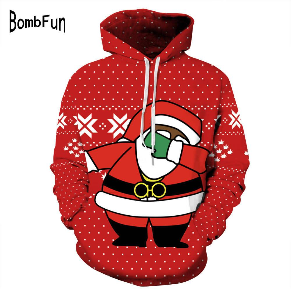 23a829fb014f 2019 Brand New Funny Hoodies Shy Santa Claus 3d Print Sweatshirt Men Women  Christmas Party Hooded Pullovers Casual Couples Tops Hoody From  Qualityclothes