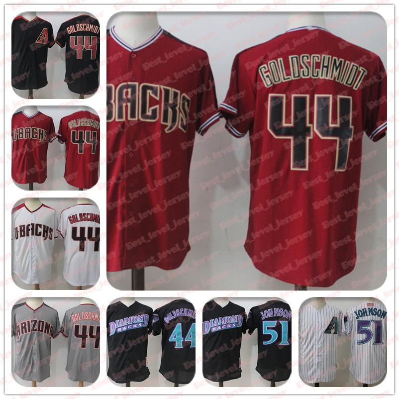 uk availability 72b02 7a375 44 Paul Goldschmidt Jersey 51 Randy Johnson Jersey Arizona jerseys  Diamondbacks Jersey hot sale