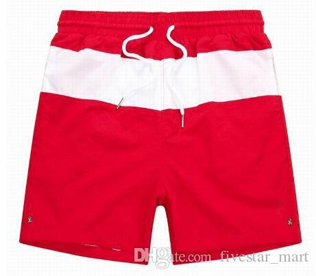 Limited New Summer Men Striped Polo Shorts Small Pony High Quality Beach Short Pants Classic Quick Dry Board Trunks Red Black Blue