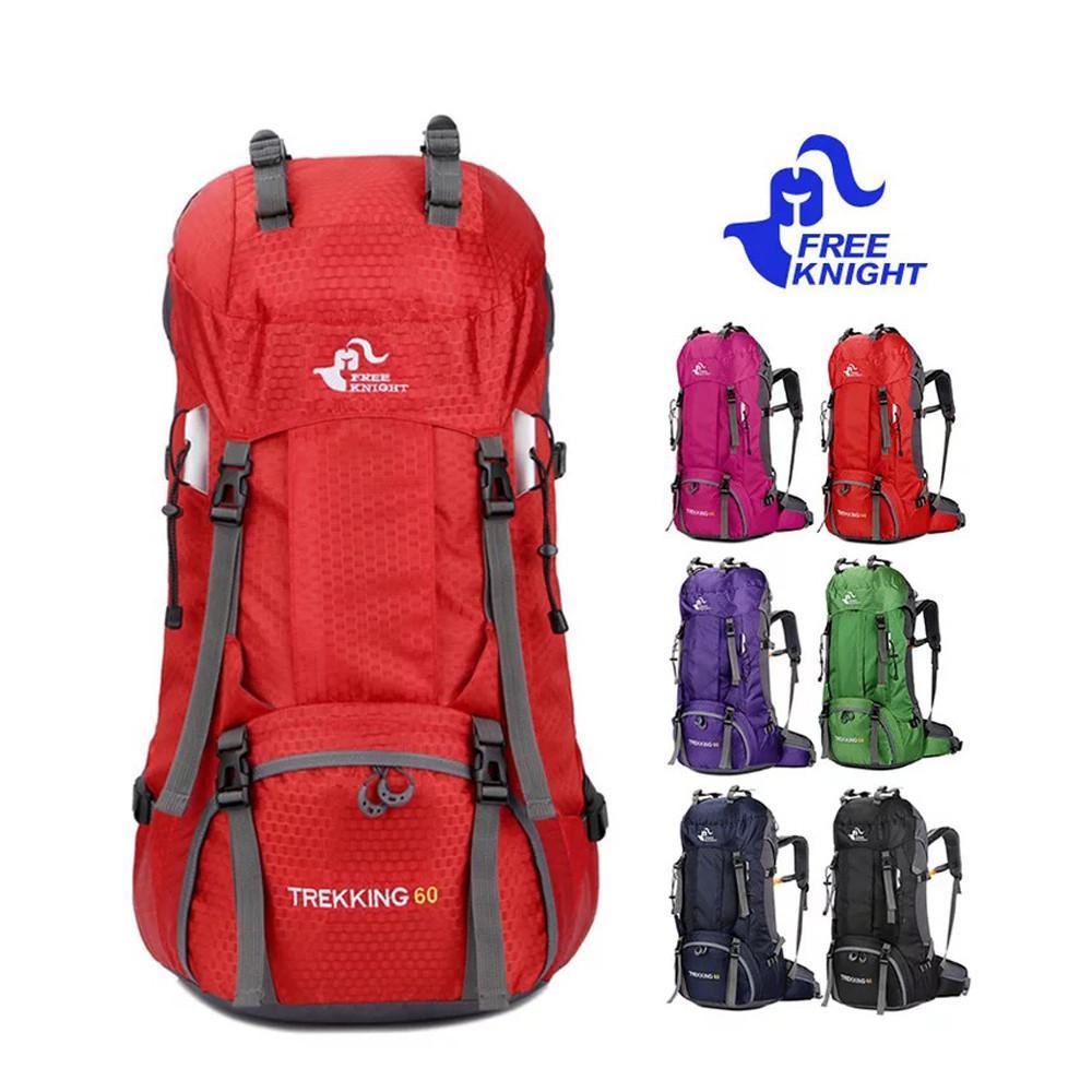 Hot Sale 60L Waterproof Climbing Hiking Backpack Rain Cover Bag Quality  Camping Mountaineering Backpacks Sport Outdoor Bike Bags Rucksack Backpack  Boys ... e3bbb36f44