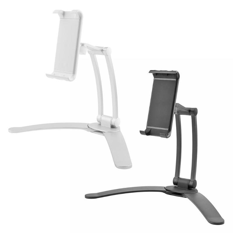 SZAICHGSI 2 in 1 Kitchen Mount Tablet Stand Flodable 360 Rotated Desktop Phone tablet PC Holder for office desktop