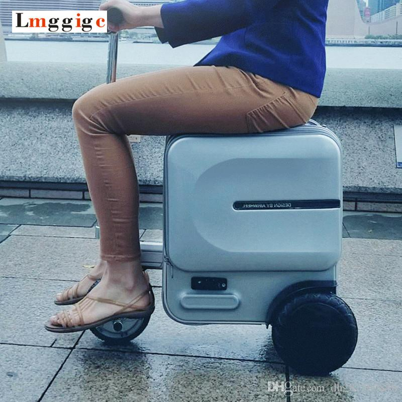 7f007fc1c58e Electric Riding Travel Rolling Luggage Bag,Intelligent Wheel  Suitcase,Rideable trolley Case ,Cabin Luxurious Carry on Box
