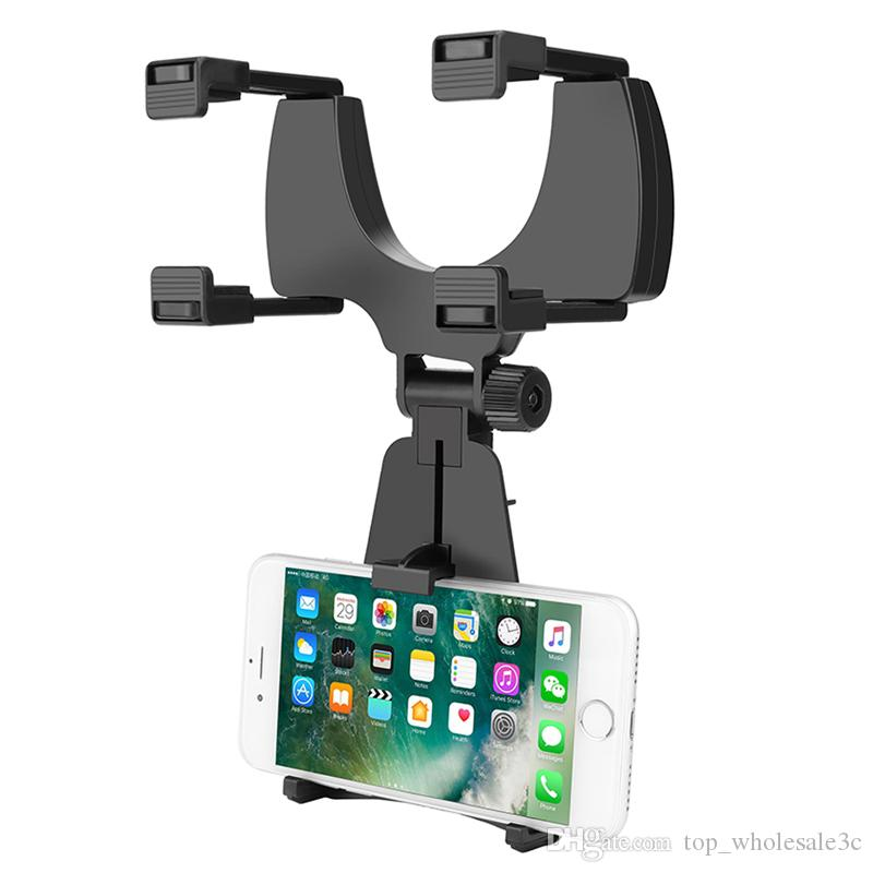 Free DHL Car Auto Rearview Mirror Mount Cell Phone Holder Bracket Stands For Samsung xiaomi Huawei For iPhone Mobile Phone GPS