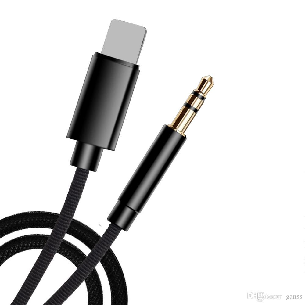 get cheap 5e97c 1a4ac For Lighting To 3.5mm Jack Audio Adapter Extension Cable Aux Cord for  iPhone XS Max XR X Car Speaker Headphone Connector