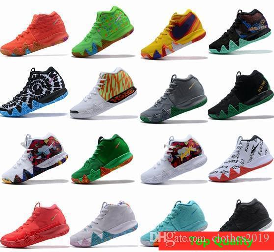 huge selection of 3c338 23729 4s Kyrie IV Lucky Charms Mens Basketball Shoes Irving 4 Confetti BHM  EQUALITY All-Star March Madness City Guardians London Mamba Sneakers
