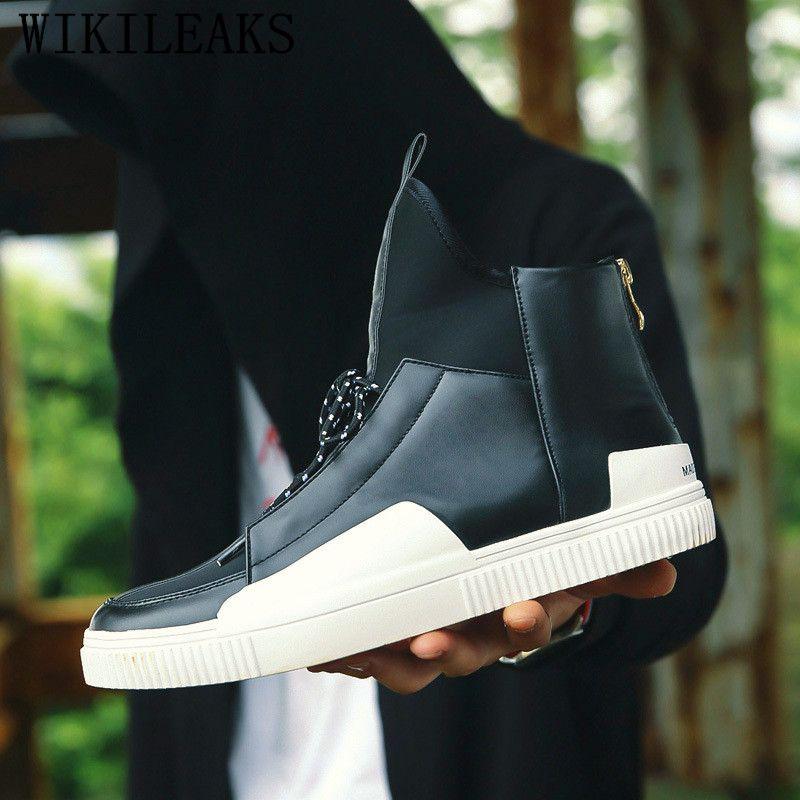 Compre 2019 Zapatos Para Hombre Marca De Lujo Casual Zapatillas Altas  Zapatillas De Calle Hip Hop Zapatos Hombres Tenis Masculino Adulto Zapatillas  Hombre A ... a6a5f444718