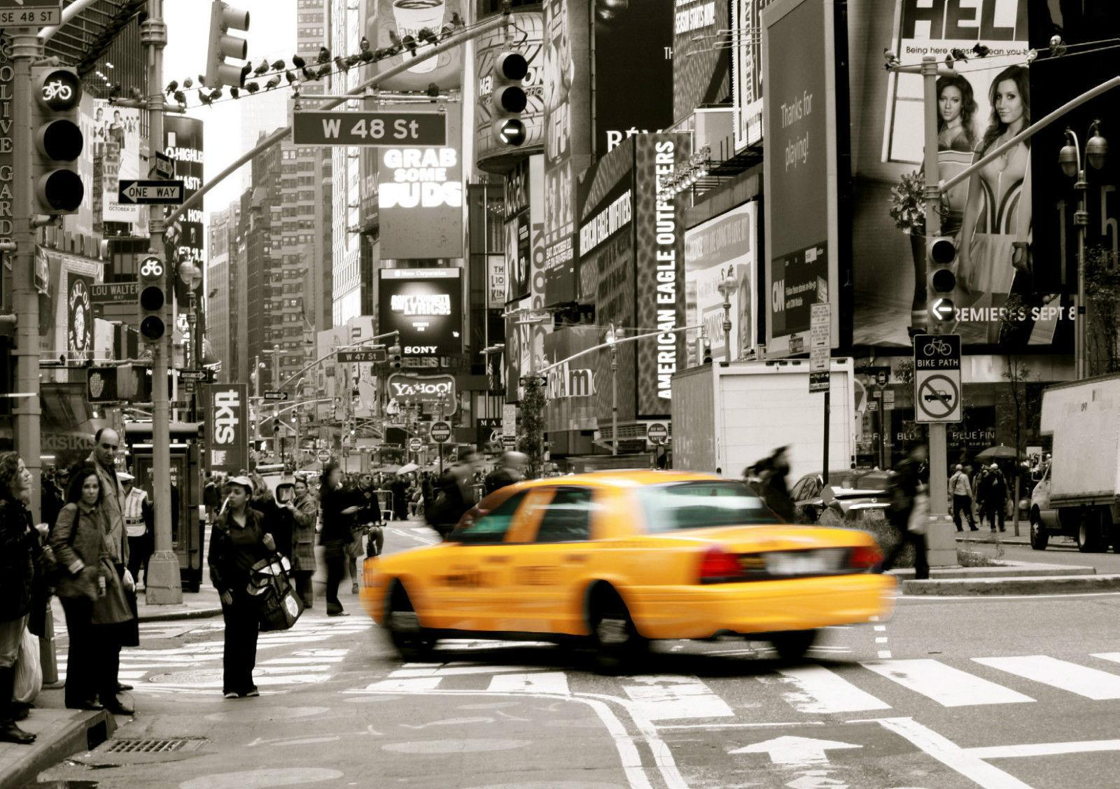 Poster New York Taxi.2019 New York Taxi Scene Art Silk Print Poster 24x36inch60x90cm 012