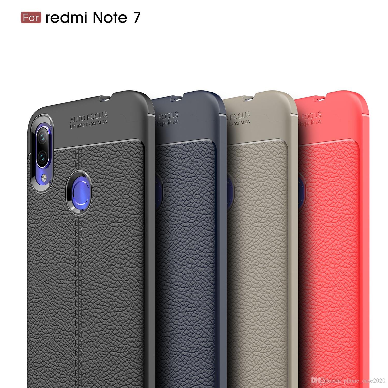 low priced 2e7ee c57e1 Ultra Slim Litchi Leather TPU Soft Case For Xiaomi Redmi Note 7 Note 6 Pro  Redmi 6 6Pro 5 5 Plus Note 5