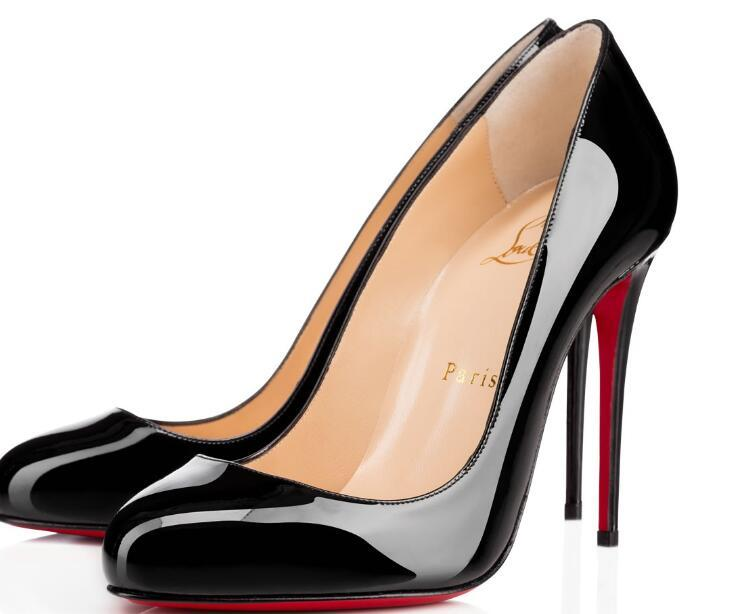 Christian Louboutin Cl Fashion Pump Patent Leather High Heel Ladies Wedding Shoes Pointed High Heels Sexy Ladies High Heels Sheepskin 34 42 H10