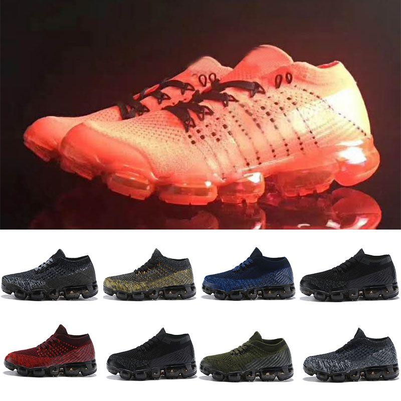Nike air max 2018 Niños Zapatillas de running Zapatillas de deporte infantiles Infantiles del arco iris negro Zapatillas deportivas para niños, niñas