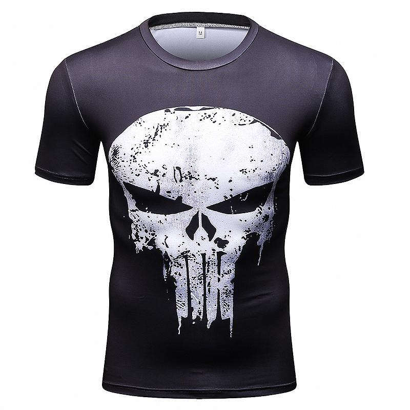680f21285746 Summer New Men Short Sleeve 3D Running T-shirts T Shirt Men Fitness ...