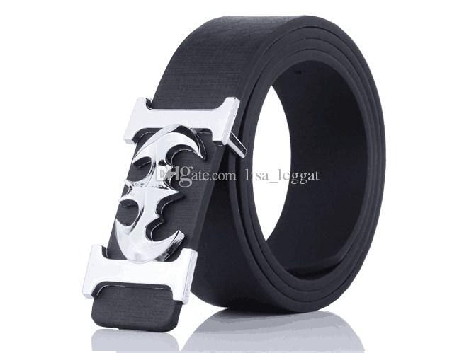 Wholesale new all-match men belt buckle belt white bat youth leisure pants belt trend of students
