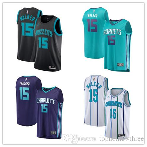 b94893fd4 2019 Charlotte Kemba Walker Hornets Michael Brand Basketball Swingman  Jersey City Edition Black From Didida