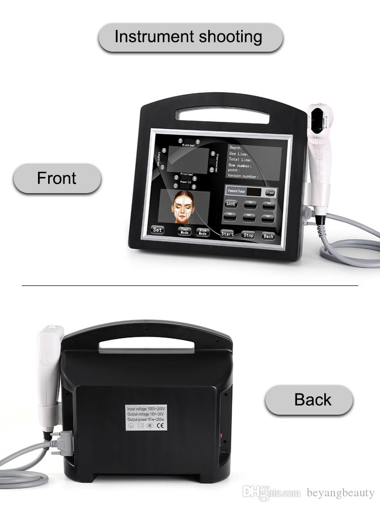 Best effective 2019 Newest portable ultrasound face lift original 3d 4d hifu body slimming and skin care machine