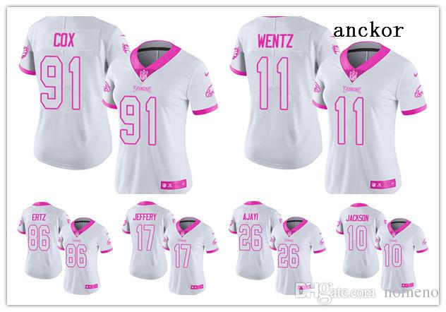 new arrival 6b41c 609f2 Philadelphia MEN WOMEN YOUTH 11 Carson Wentz 86 Zach Ertz Limited Jersey  Football Eagles White Pink Rush Fashion