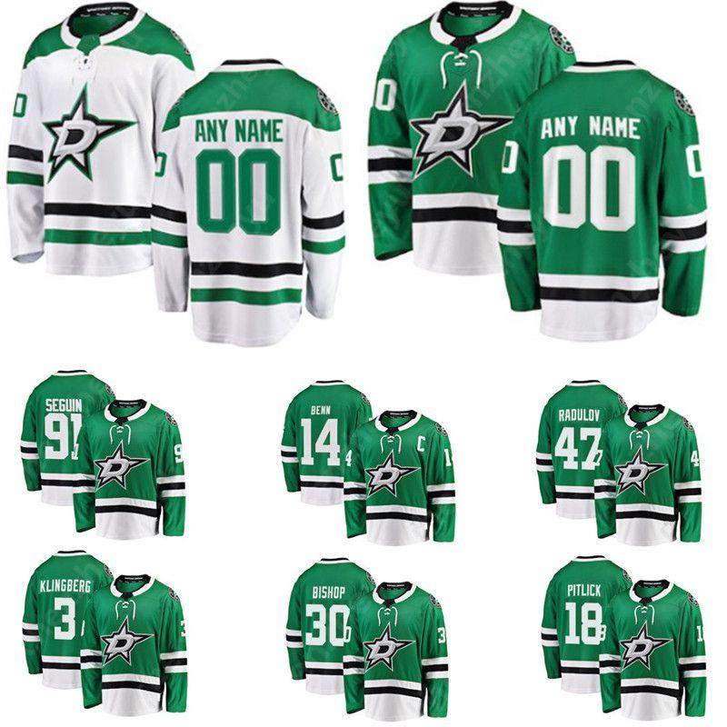 buy popular 262d3 b0ab7 Custom Dallas Stars Jersey 36 Mats Zuccarello Benn Seguin Heiskanen Hanzal  Pitlick Johns Ritchie Radulov Faksa Methot Klingberg Spezza