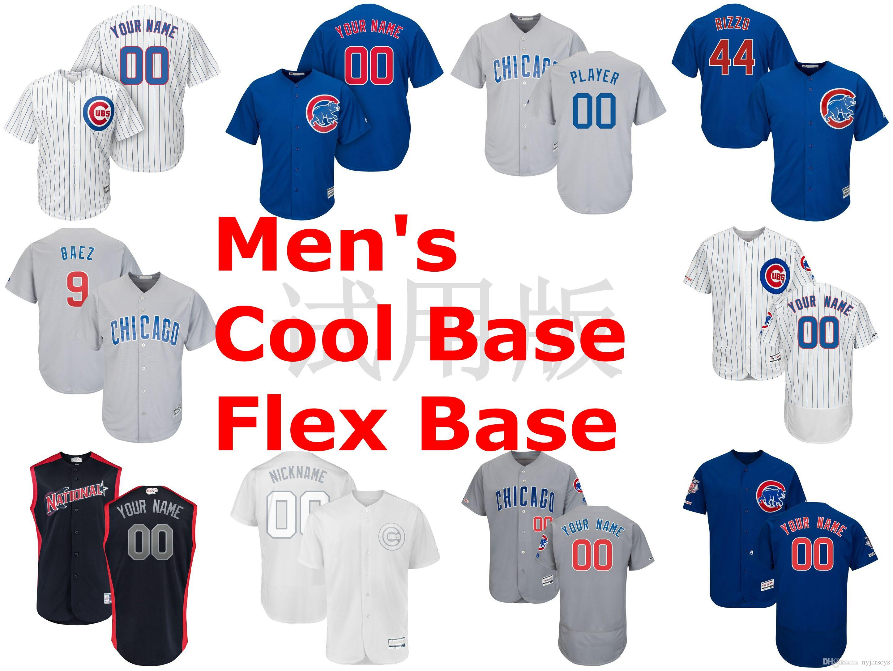 finest selection 5fcbb 147f9 Chicago Jerseys Cubs Javier Baez Jersey Anthony Rizzo Kris Bryant Ernie  Banks Willson Contreras Baseball Jerseys Custom Stitched Any Name