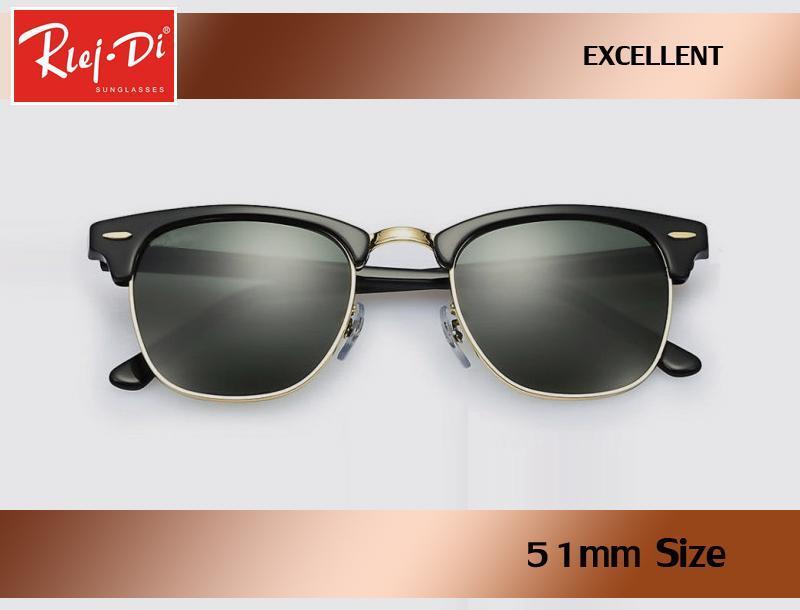 c215824a55cc Factory Wholesale Top Quality 51mm Half Frame Designer Club Sunglasses  Womens Mens Master Rlei Di UV400 Protecton Mirror Sunglass Gafas Retro  Sunglasses ...
