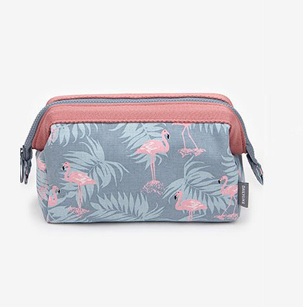 Flamingo Cosmetic Bags Women Travel Large Capacity Portable Make Up Bag Waterproof Toiletry Bag Multifunction Storage Organizer