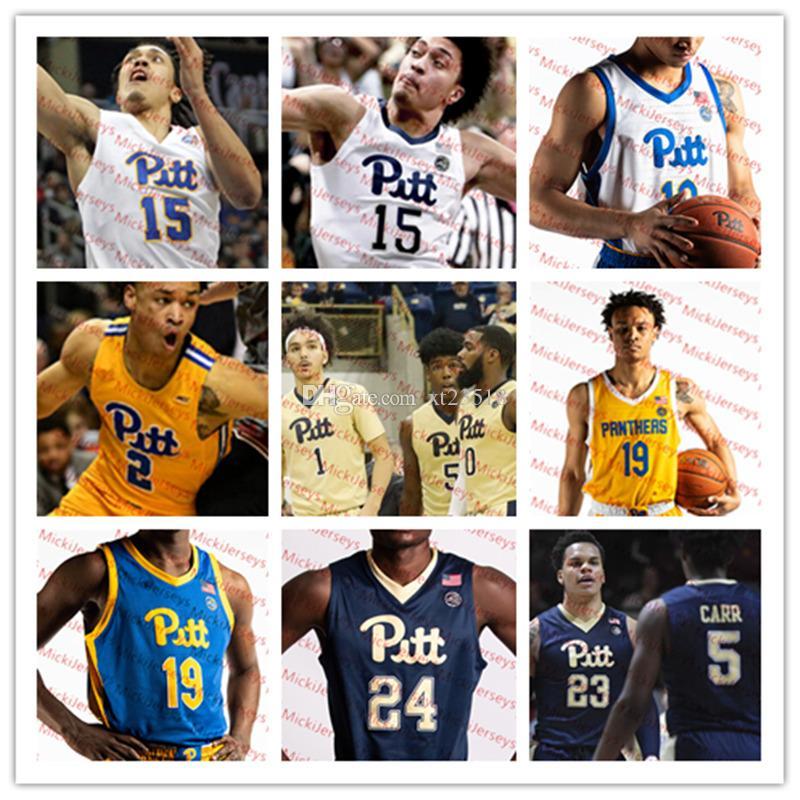 hot sale online 831b8 1de90 Mens Custom Pittsburgh Panthers Basketball Jersey Jerome Lane Charles Smith  Lorri Johnson Sam Young Dejuan Blair Carl Krauser Pitt Jersey
