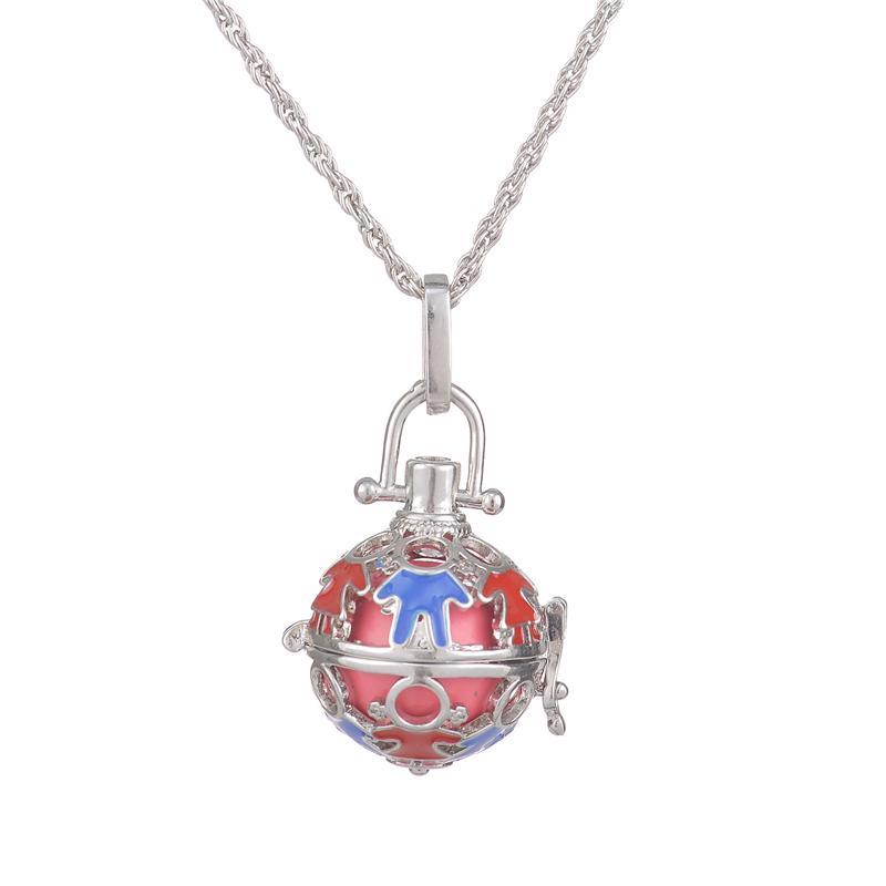 Women Locket Harmony Ball Cage Pendant Sounds Chime Pregnancy Necklace