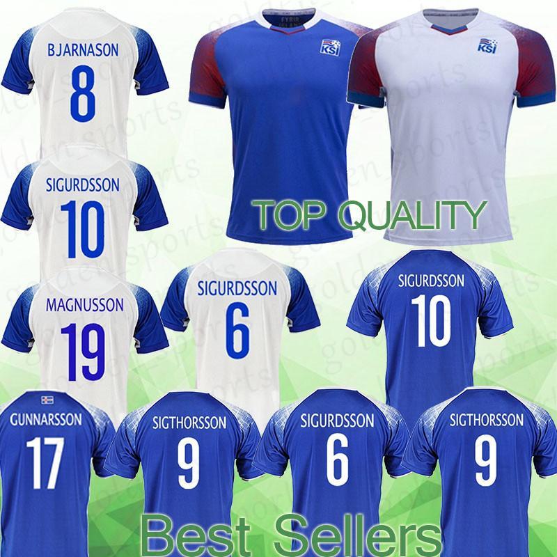 online retailer 2f4c6 0bca1 Iceland jersey 10 G.SIGURDSSON 4 GUDMUNDSSON 8 BJARNASON 11 FINNBOGASON  soccer jersey Football clothes top quality