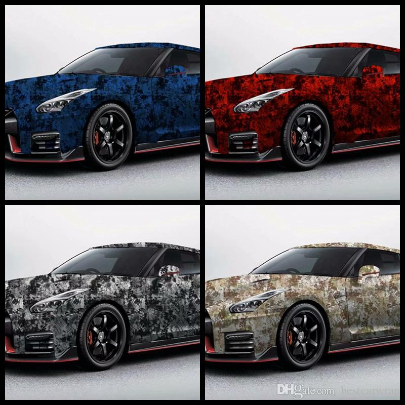 Impressive union Camo Vinyl Car Wrap foil With air bubble Free Printed / PAINTED Camouflage graphics sticker 1.52x30m Roll