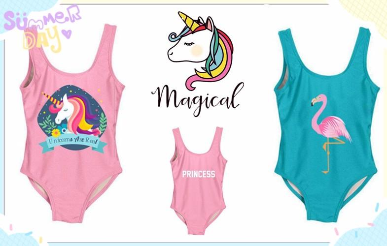 Girls swimwear 3-14 Years Print One Piece Swimsuit for Children Strap Teenage Girl Sport Bathing Suits