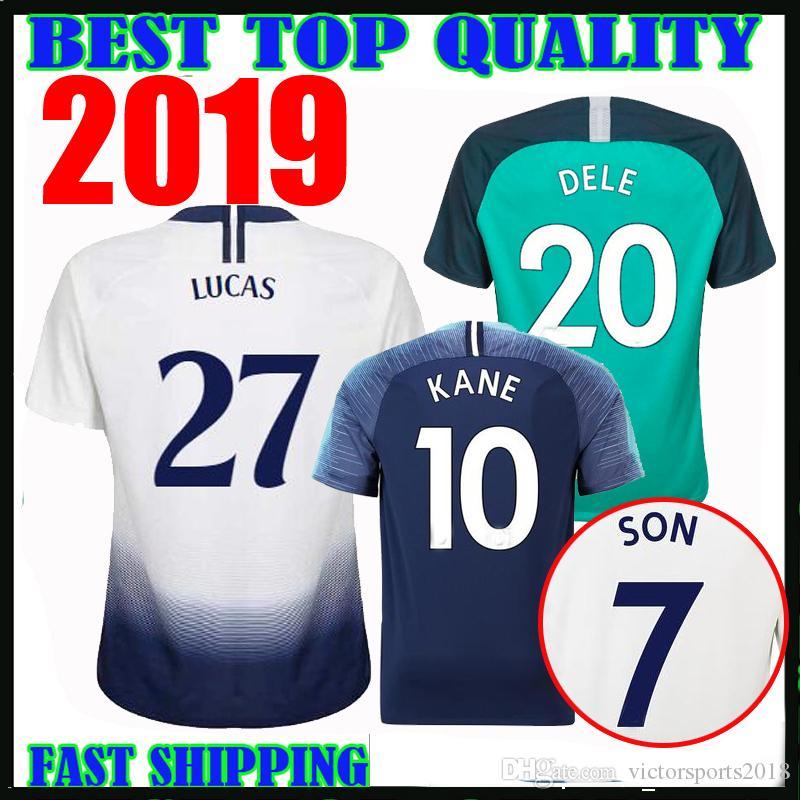 the best attitude 67cc6 431a2 19 20 #27 lucas spurs soccer jerseys HOME AWAY THIRD 2019 2020 champions  league 10 KANE 7 SON 11 LAMELA 20 DELE 23 ERIKSEN FOOTBALL SHIRTS
