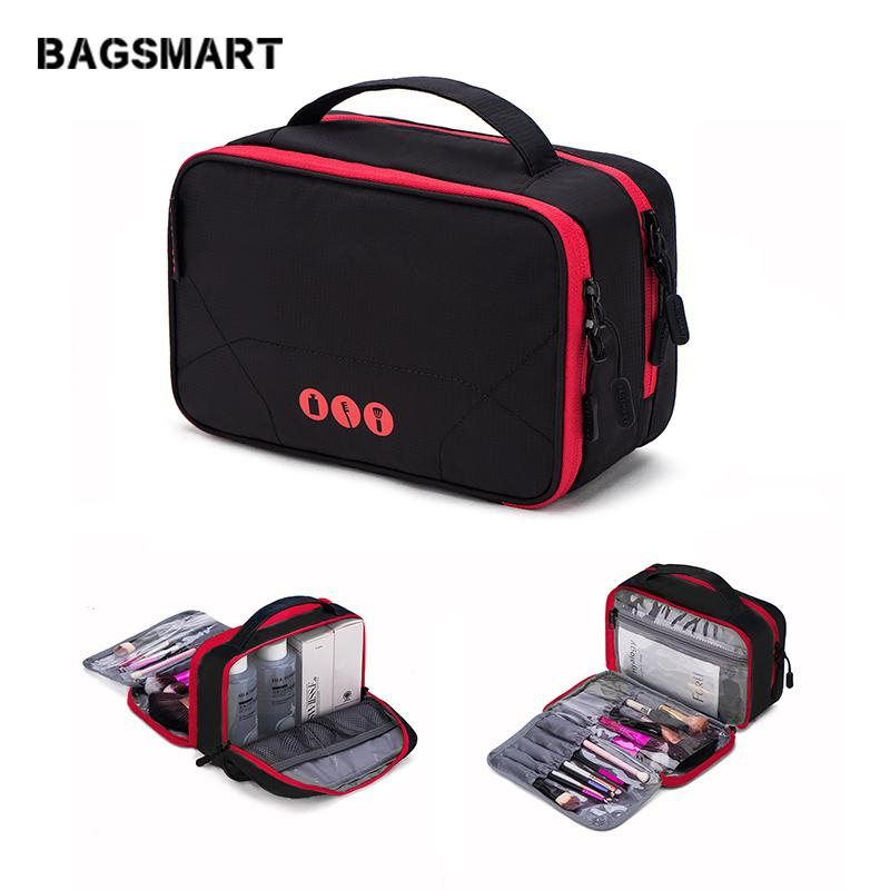 b43610b149 BAGSMART Toiletry Bags Large Capacity Waterproof Makeup Bag Nylon Travel Cosmetic  Bag Makeup Organizer Wash Duffel Shoulder Bags From Fugubag