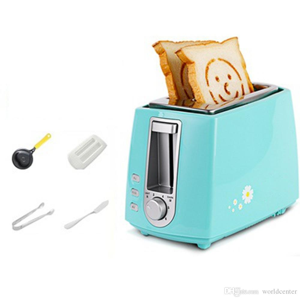 eb8cff63c 2019 DMWD 6 Gear 220V Home Electric Toaster 2 Slices Bread Oven Automatic  Breakfast Maker With Dustproof Lid Egg Mold Bread Clip From Worldcenter