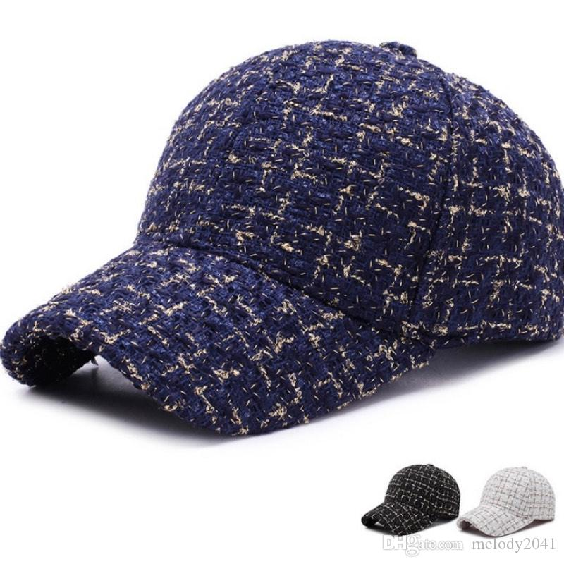 Pink Pastel Color Plaid Unisex Fashion Knitted Hat Luxury Hip-Hop Cap