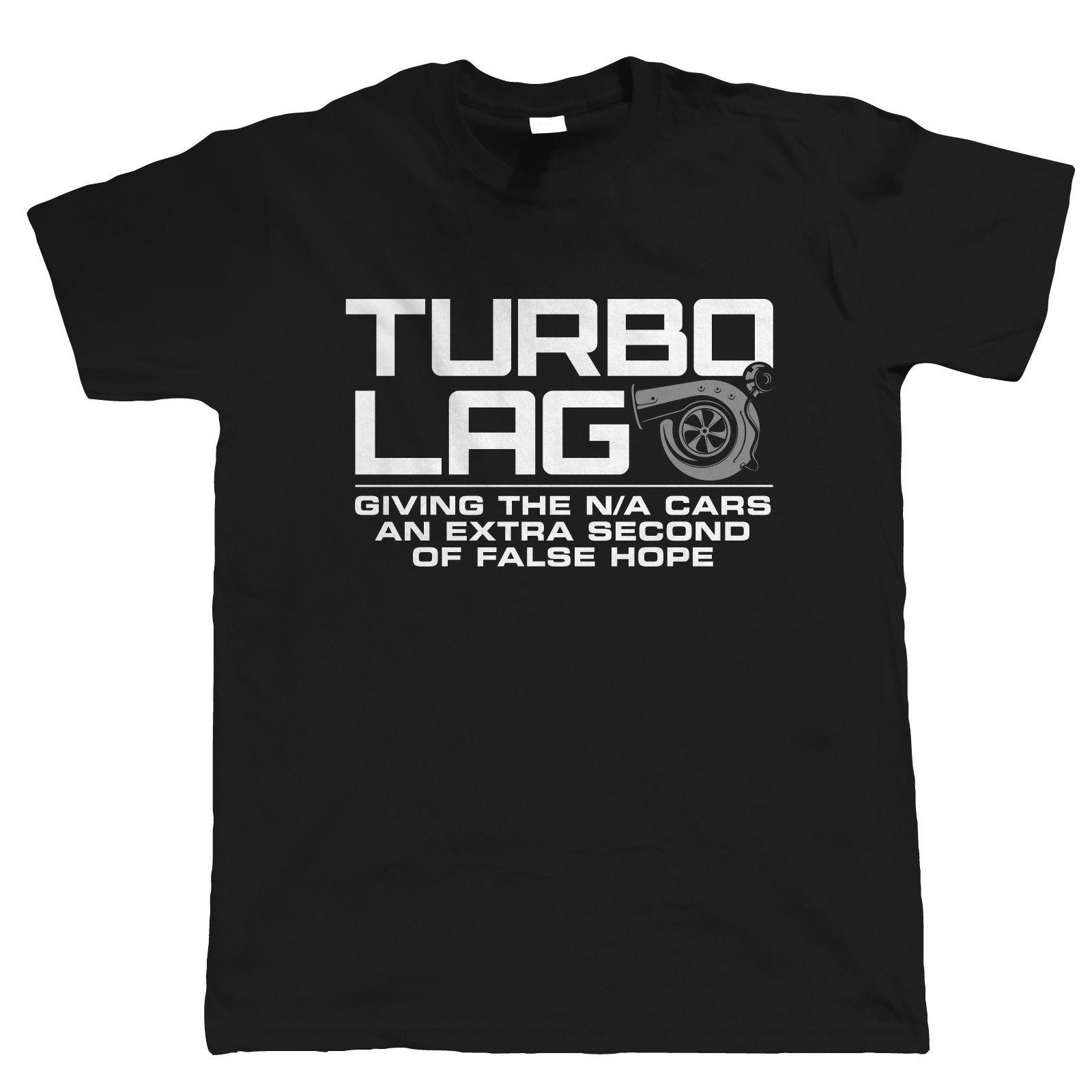 Turbo Lag Mens Funny Car T Shirt - Gift For Him Dad Drag Racing Drift Motorsport Cool Casual pride t shirt men Unisex New