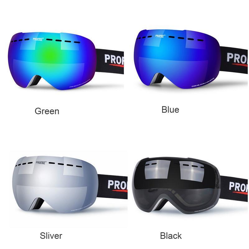 068e14981c7 Compre Señoras De Mujer Para Hombre Unisex UV400 Doble Capa Antivaho Esférica  Lente Grande Gafas De Esquí Gafas Contra Viento Espejo De Nieve Esquí A   37.06 ...