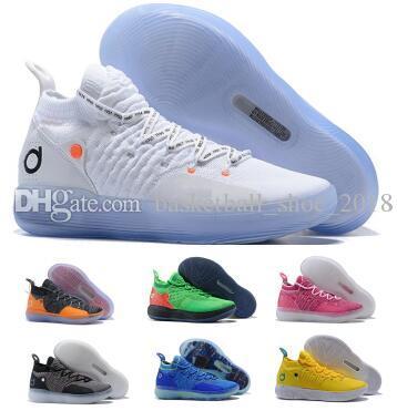 Multi Kd 11 11s Chaussures De Basketball Baskets 2019 Hommes Bleu Encore Eybl BHM Kevin Durant XI Oero Mousse Homme Entraîneur De Sport Authentique