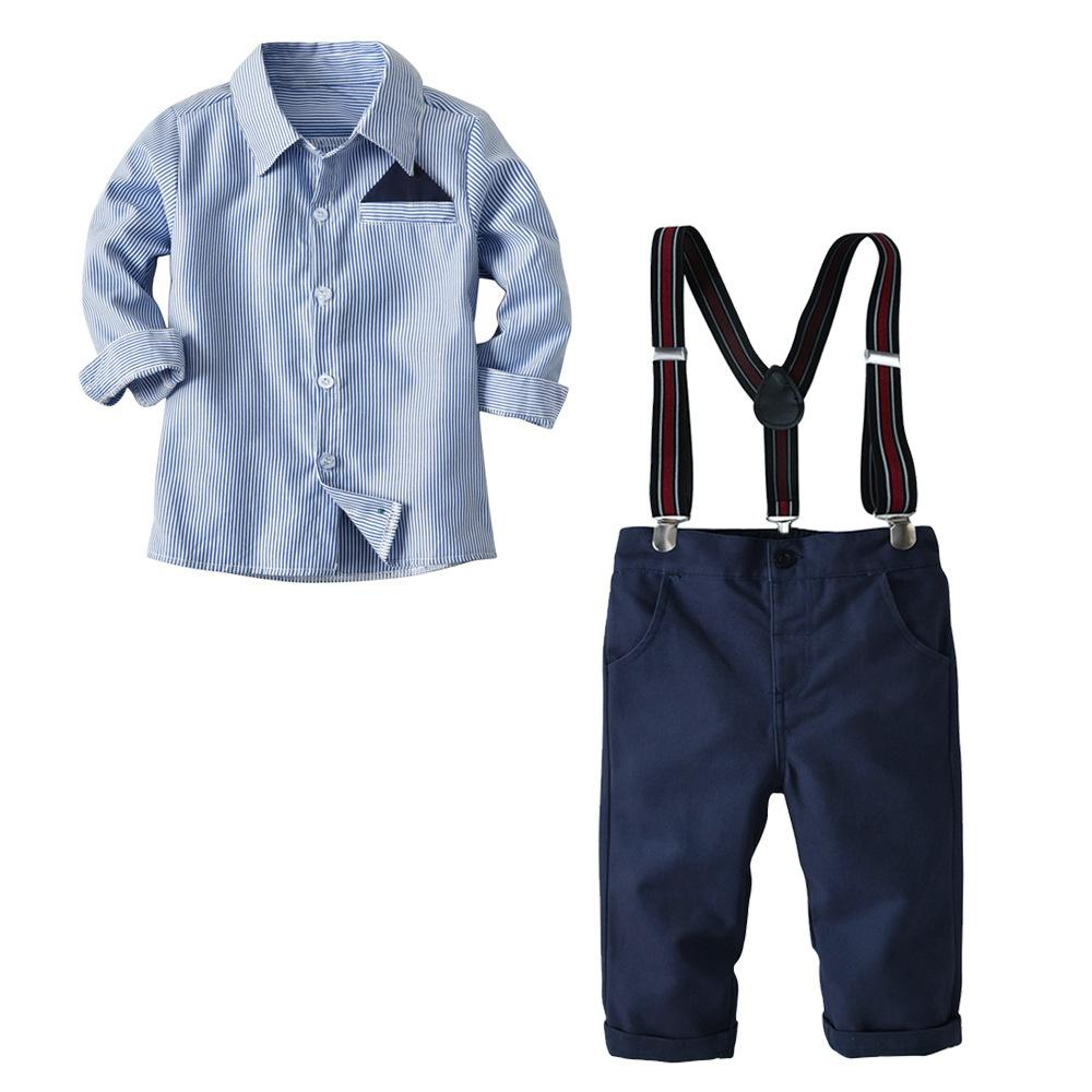 b02f6799d8e0 2019 2018 Boy T Shirt And Pants With Braces Set Baby Spring And ...