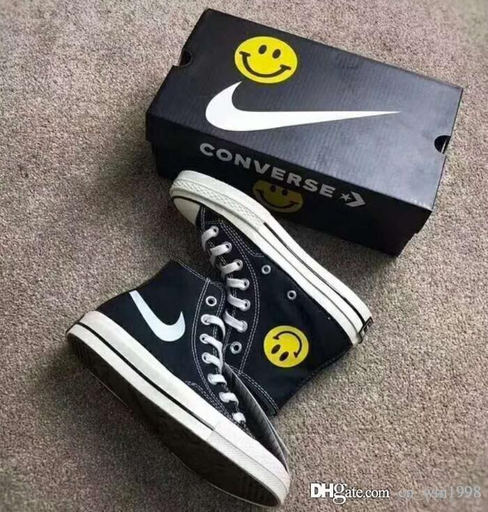 2018 new Chinatown Market Converse All Stars Shoes Chuck 1970S Canvas Women Men designer Smile Face casual running Casual Sneakers 35 44