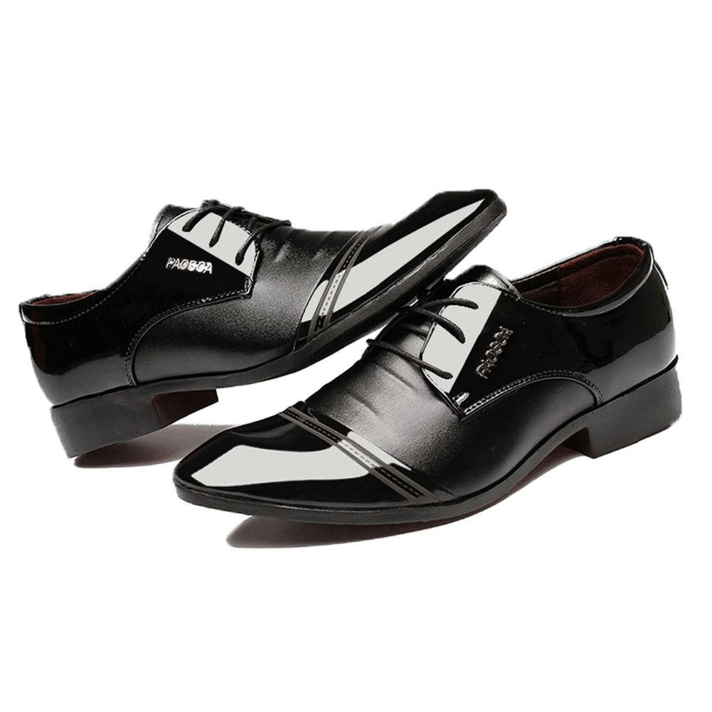 dfecf80e Compre Zapatos Oxford Para Hombres Marca De Lujo Para Hombre De Charol Zapatos  Negros Para Hombre Vestido Puntiagudo Para Hombre 2018 Zapato Clásico Para  ...