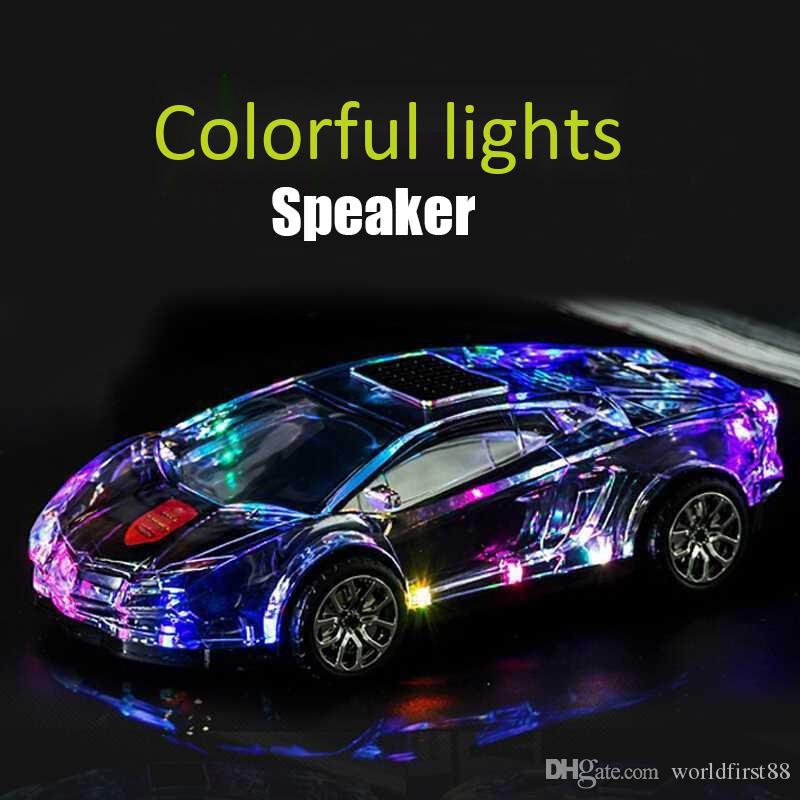 Bunte LED-Licht Bluetooth-Lautsprecher-Auto-Modell Bluetooth-Lautsprecher Wireless Audio TF-Karte U-Disk-Player tragbare Lautsprecher